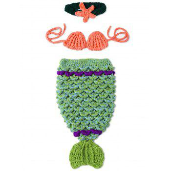Photography Prop Knitted Mermaid Costume For Newborn Baby