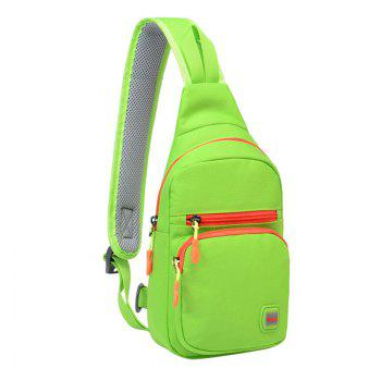 Nylon Waterproof Multi Pockets Chest Bag -  APPLE GREEN