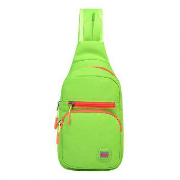 Nylon Waterproof Multi Pockets Chest Bag - APPLE GREEN APPLE GREEN