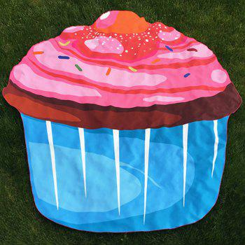 Novelty Cartoon Cupcake Beach Throw - BLUE BLUE