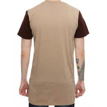 High-Low Hem Colorblock T-Shirt - XL XL