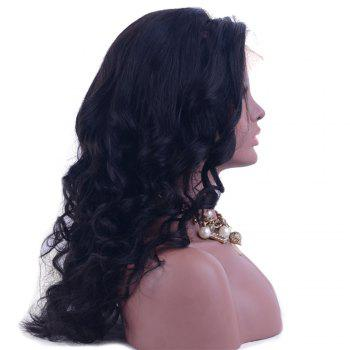 Long Lace Front Water Wave  Shaggy Human Hair Wig - 16INCH 16INCH