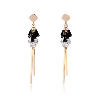 Rhinestone Geometric Bar Earrings
