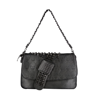 Fashionable Metal Rivets and Black Design Women's Shoulder Bag