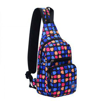 Graphic Print Waterproof Chest Bag - DEEP BLUE DEEP BLUE