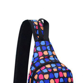 Graphic Print Waterproof Chest Bag -  DEEP BLUE