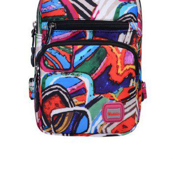 Graphic Print Waterproof Chest Bag -  PINK