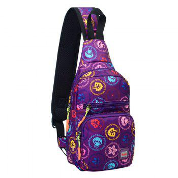 Graphic Print Waterproof Chest Bag