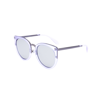 Mirror Alloy Leg Splicing Cat Eye Sunglasses