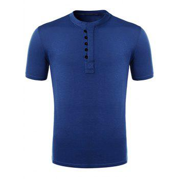 Half Placket Short Sleeve T-Shirt