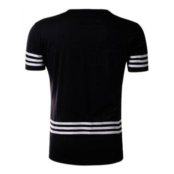 Varsity Stripe Braid Short Sleeve T-Shirt - 2XL 2XL