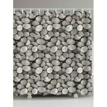Polyester Fabric Cobblestone Print Shower Curtain
