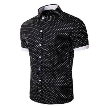 Polka Dot Print Short Sleeve Shirt