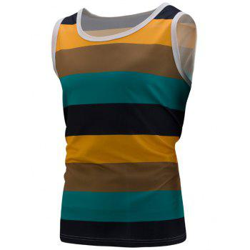 Colorblock Stripe Sports Tank Top