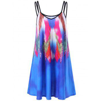 Feather Slip Dress - BLUE BLUE