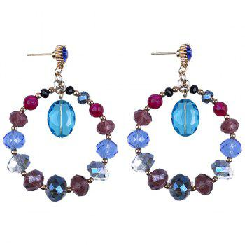 Faux Crystal Beaded Earrings