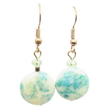 Faux Turquoise Ball Earrings