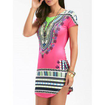 Short African Print Bodycon Dress