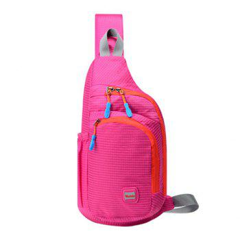 Multipocket Waterproof Chest Bag -  ROSE RED