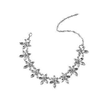 Artificial Crystal Rhinestone Flower Necklace