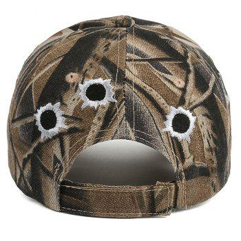 Camo Shothole Embroidered Baseball Hat - COLORMIX