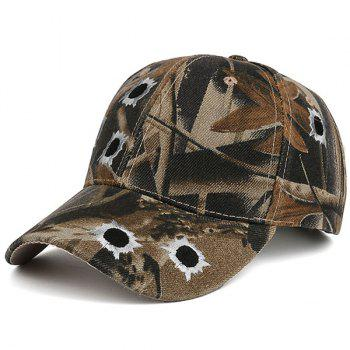 Camo Shothole Embroidered Baseball Hat