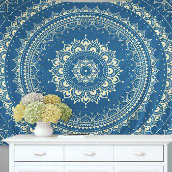 Wall Hanging Art Decor Mandala Pattern Tapestry - BLUE BLUE