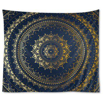 Wall Hanging Art Decor Mandala Pattern Tapestry - PURPLISH BLUE PURPLISH BLUE