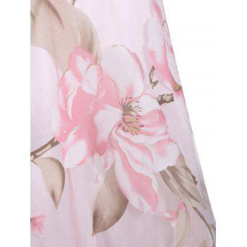 Sleeveless Floral Printed Midi Dress - PINK M