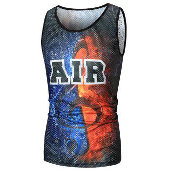 Air Printed Mesh Sport Tank Top - COLORMIX COLORMIX