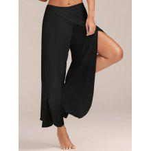 High Slit Flowy Layered Palazzo Pants