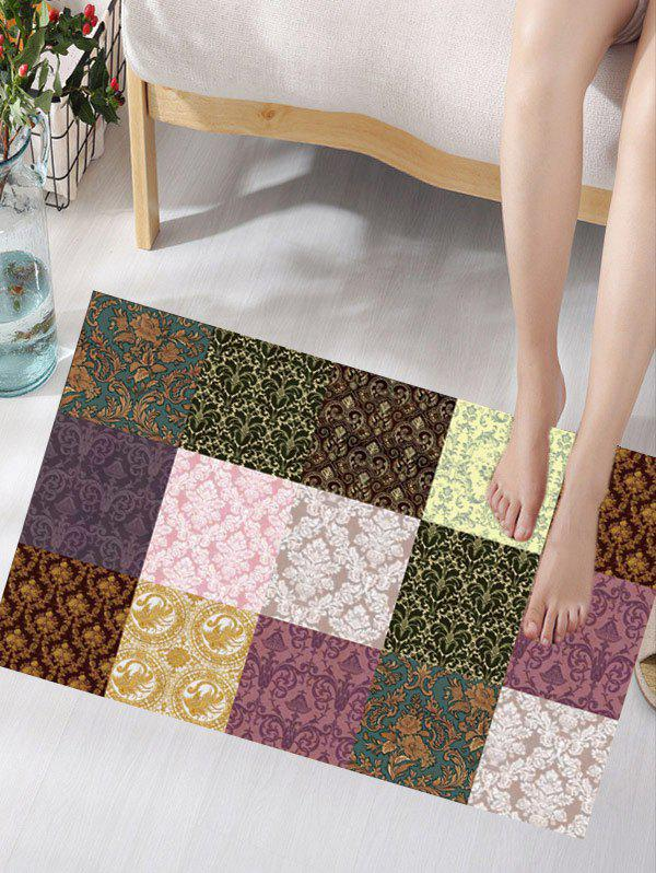 Flower Pattern Plaid Insert Skidproof Flannel Rug портативные колонки partner globe