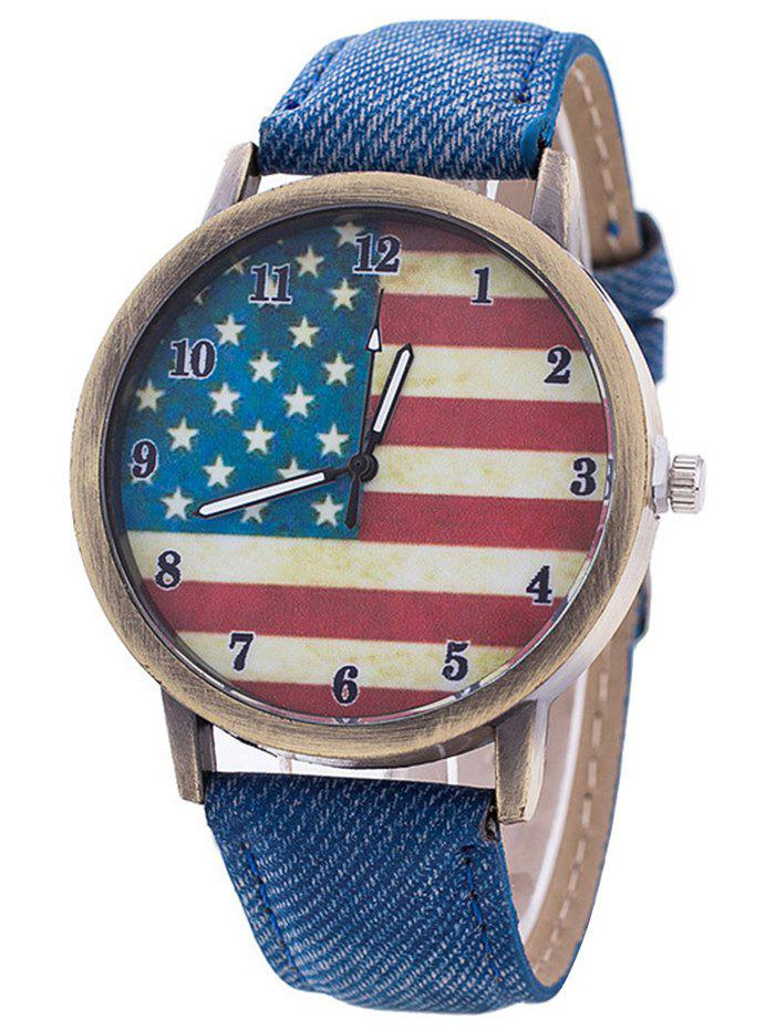 Stars And Stripes Flag Jeans Watch stars and stripes flag jeans quartz watch