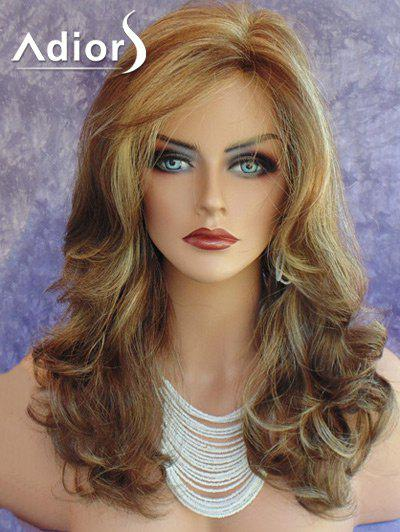 Adiors Long Side Part Wavy Colormix Synthetic Wig adiors colormix long side bang half braided wavy synthetic wig