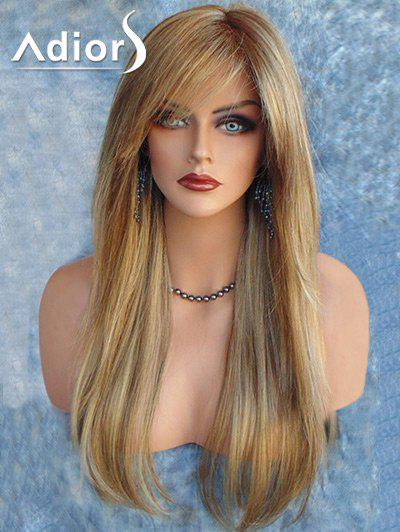 Adiors Long Colormix Side Part Straight Synthetic Wig adiors long side part colormix layered curly synthetic wig