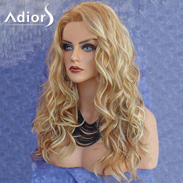 Adiors Long Side Part Colormix Layered Curly Synthetic Wig adiors long side bang slightly curly colormix synthetic wig