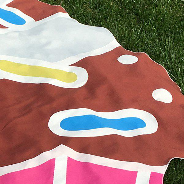 Novelty Cartoon Cupcake Beach Throw - COFFEE