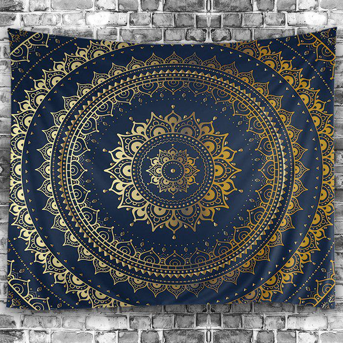 Wall Hanging Art Decor Mandala Pattern Tapestry - PURPLISH BLUE W91 INCH * L71 INCH