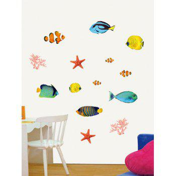 Cartoon Fish Starfish Coral Bedroom Decorative Wall Decals