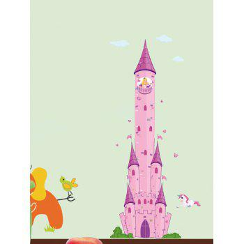 Cartoon Princess Castle Pegasus Wall Sticker