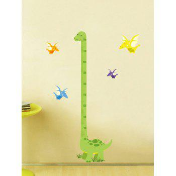 Cartoon Dinosaur Measuring Height Ruler Wall Decals