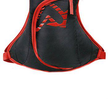 Nylon Waterproof Arrow Pattern Backpack -  RED
