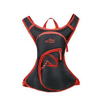 Nylon Waterproof Arrow Pattern Backpack - RED RED