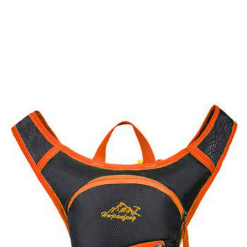 Nylon Waterproof Arrow Pattern Backpack -  ORANGE