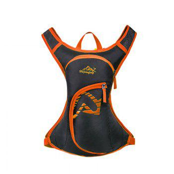 Nylon Waterproof Arrow Pattern Backpack - ORANGE ORANGE
