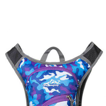Nylon Waterproof Camouflage Backpack -  PURPLE