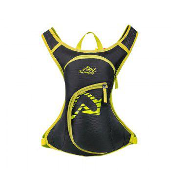 Nylon Waterproof Arrow Pattern Backpack - YELLOW YELLOW
