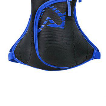 Nylon Waterproof Arrow Pattern Backpack -  BLUE
