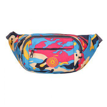 Camouflage Waterproof Waist Bag - RED RED