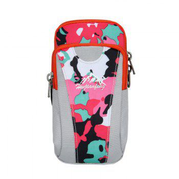 Lightweight Camouflage Arm Bag - WHITE + PINK + BLUE WHITE / PINK / BLUE